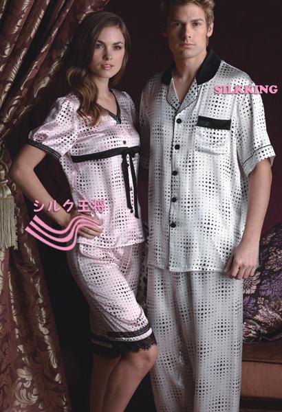 【ブラックフライデーセール】 ★【★2010新作】 シルクサテンプリントパジャマセット!可愛い新型!【送料無料】wwj320423b    10P03Dec16