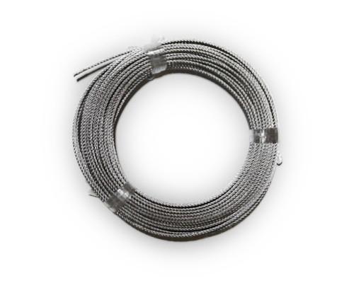イノシシ罠用ワイヤーロープ(油抜き)猪罠 4ミリ 6×24 100m