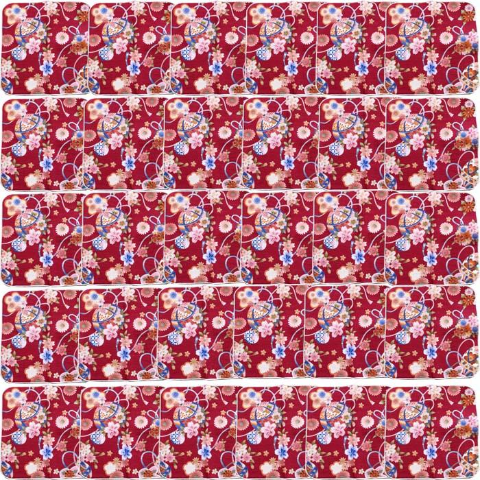 【和柄プリントガーゼタオルハンカチ/毬と桜30枚】名前入り ハンカチ 名入れ 和 還暦祝い 記念品 名入れ 祖母 名入れ 和装小物 ネーム刺繍 タオル記念品 名入れプレゼント 文字入り