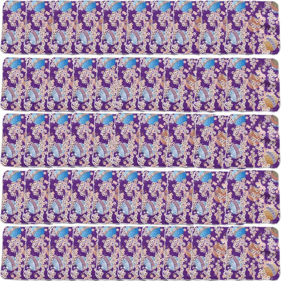 【和柄プリントガーゼタオルハンカチ/毬50枚】名前入り ハンカチ 名入れ 和 還暦祝い 記念品 名入れ 呉服店周年記念 和装小物