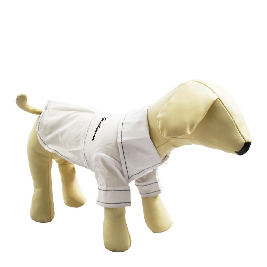 かっこいい襟のついた前ボタンシャツ ブラックとホワイトの2色でご用意いたしました 訳あり アウトレット ドッグウェア 犬の服 当店は最高な サービスを提供します 襟付きシャツ カラー 前ボタン シンプル 無地 大型犬 防寒 サイズ L ロゴ付き 中型犬 M 商舗 ステッチ 小型犬 服 S