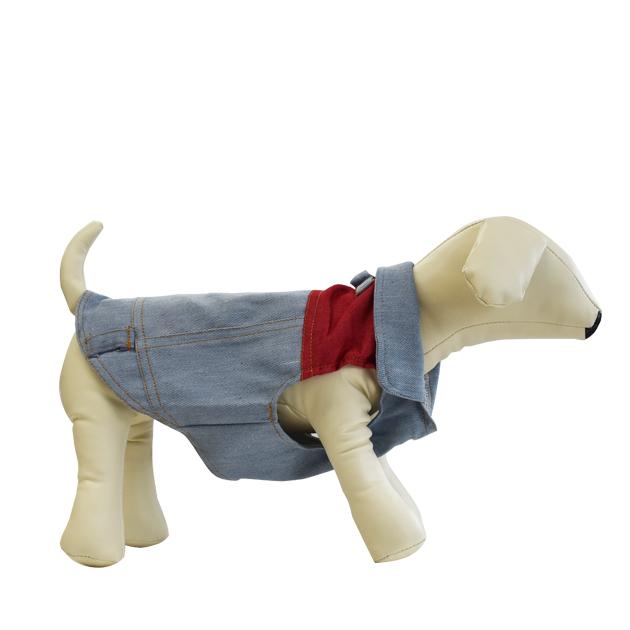 ワイルドなデニムのベスト シンプルなデザインなのでお手持ちのウェアと合わせておしゃれに着こなしてください 最大1500円クーポン配布中 ドッグウェア デニムベスト 送料込 ジレ ノースリーブ 防寒 服 大型犬 中型犬 3980円以上送料無料 売り込み 小型犬 シンプル