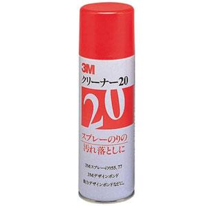 【1缶あたり 1,100円税別】3M クリーナー20 20缶セット/スプレータイプ/スプレーのりの汚れ落とし/静電気防止