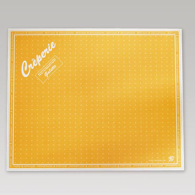 オレンジ色のクレープを包む包装紙 日本未発売 長方形タイプの業務用クレープ包装紙 クレープ包装紙 商店 ドリームズ柄 3 000枚 四角