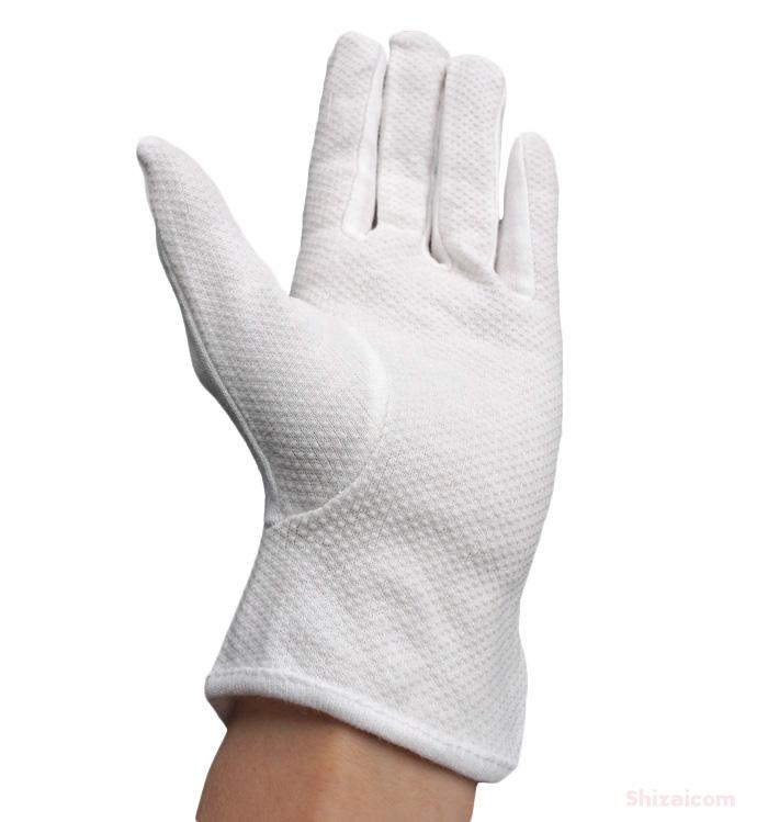 KAWANISHI No.2689 手のひらスベリ止付スムス手袋 5P 【5双入】 綿100%で吸汗性に優れ、ボツスベリ止め付きの白手袋です。 作業手袋 ドライブ手袋 礼装手袋 白手袋 スムス手袋 ★レビュー記入プレゼント対象商品★
