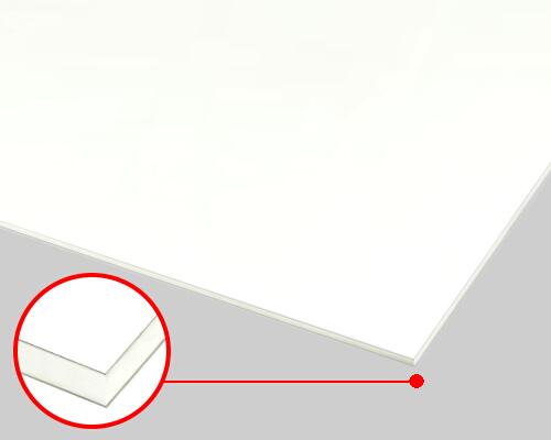 【送料無料】 アルミ複合板ホワイト(両面つや有)3mm 1000×2000mm 5枚セット AB-4 ●個人名宛の配送はできません