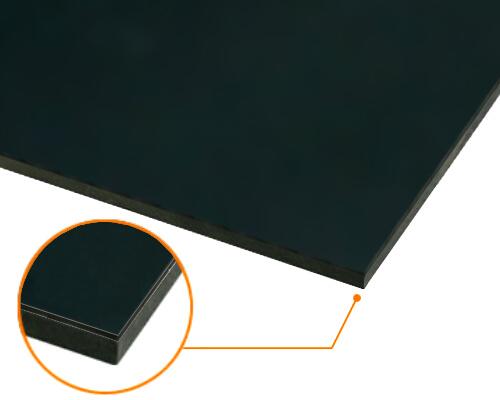 カルプボード/スーパーボード黒10t 片面貼り合せ 面材 アルミ複合板 黒3mm 910X1820mm ●業務用