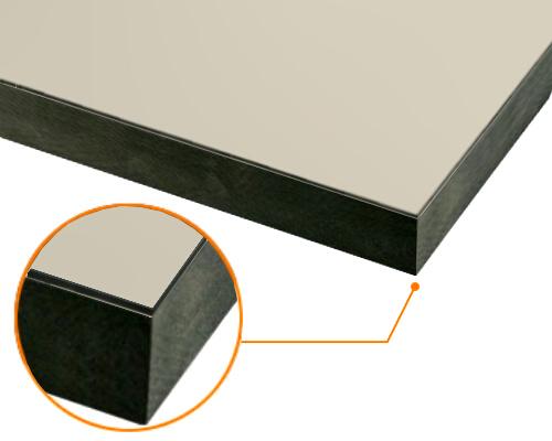カルプボード/スーパーボード黒40t 片面貼り合せ 面材 アルミ複合板Pステン 3mm 910X1820mm