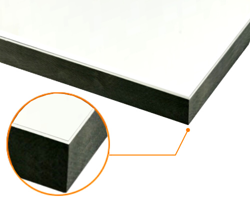 カルプボード/スーパーボード黒40t 片面貼り合せ 面材 アルミ複合板白 3mm 910X1820mm ●業務用