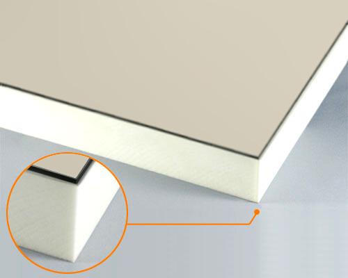 カルプボード/スーパーボード白40t 片面貼り合せ 面材 アルミ複合板Pステン 3mm 910X1820mm