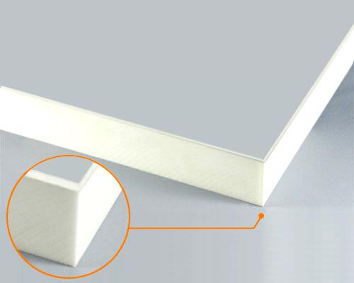 カルプボード/スーパーボード白40t 片面貼り合せ 面材 アルミ複合板シルバー 3mm 910X1820mm