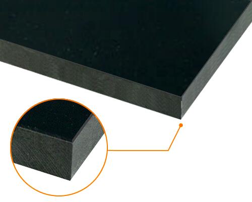 カルプボード/スーパーボード黒40t 片面貼り合せ 面材 塩ビ 黒2mm 910X1820mm ●業務用