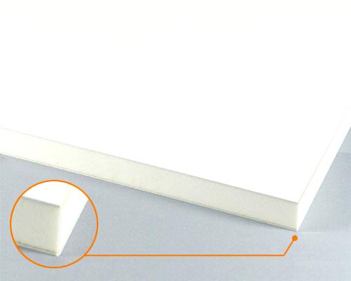 カルプボード/スーパーボード白20t 両面貼り合せ 面材 塩ビ 白2mm+白0.5mm 900×900mm ●業務用