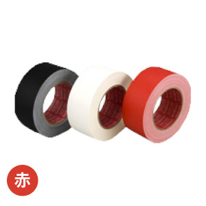 スリオンテック 布カラーテープ No.3345 マットクロス加工 50mm×25m 30巻入 赤 [HA]