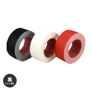 艶消し布テープ スリオンテック 布カラーテープ No.3345 マットクロス加工 50mm×25m 30巻入 黒 [HA]