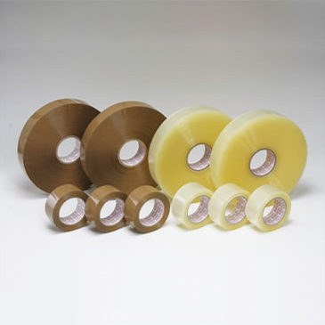OPPテープ #55L(48巾) 55μ (透明・茶色)幅48mm×長さ1000m×厚さ55μ(6巻入)【ケース売り】(HY)