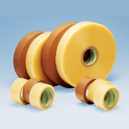 【法人様限定商品】デンカ カラリヤン PP-40M #424 (透明・ベージュ)幅50mm×長さ1000m×厚さ0.065mm 3ケース(5巻入×3ケース)(HA)