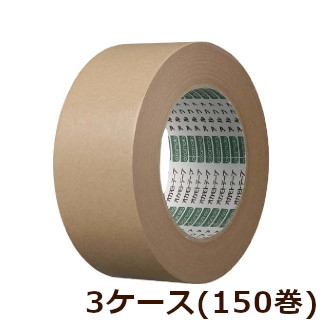 オカモト クラフトテープアルファ No.226 クリーム巾50mm×長さ50m×厚さ0.15mm 3ケース(50巻入×3ケース)(HA)