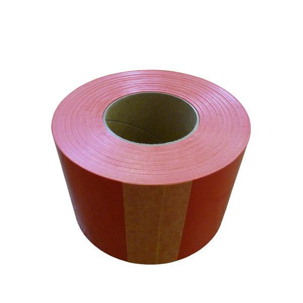 非粘着テープ 糊なしテープ バリケードテープ 赤色 レッド 店舗用品 順路表示 封鎖 マラソン 1巻 非粘着タイプ 厚み0.07mm×幅70mm×約100m巻 大特価!! 年末年始大決算 赤 資材屋さんオリジナル商品 誘導 オリジナルデザインもご相談承り中 コーステープ