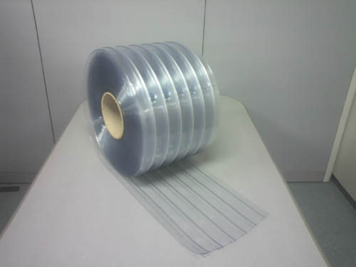 のれんビニールカーテン 透明リブ付 (ノーブランド/輸入品) 厚み2mm×幅300mm×長さ30m巻 1巻