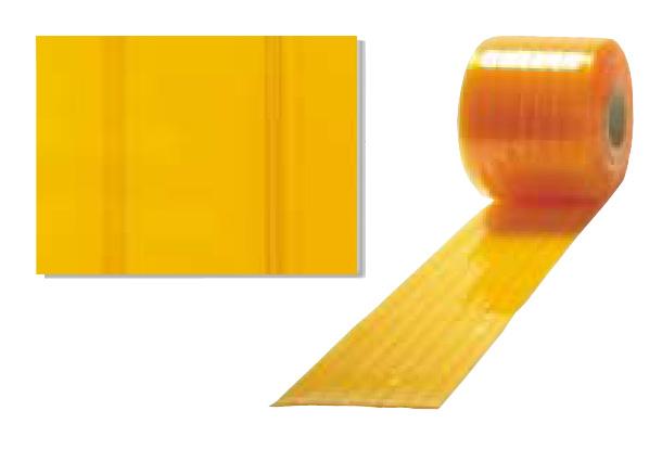 アキレスミエール ライン防虫静電(オレンジリブ付) ビニールカーテン(のれん式) 厚み3mm×幅300mm×長さ30M 1巻