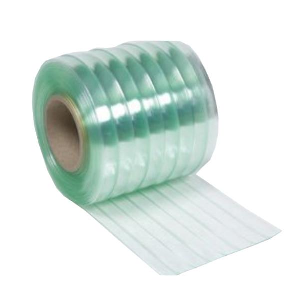 ビニールカーテン のれん式 (静電透明・リブ付) 厚み3mm×幅300mm×長さ30m巻 国産品