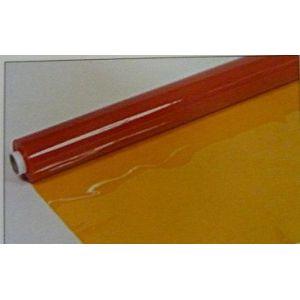 日本ウェーブロック 防炎防虫帯電ビニール(フレミラー) 透明オレンジ 0.3mm×137cm×30m巻