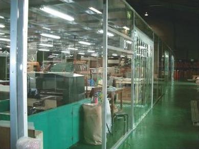 ビニールドアカーテン 透明 広幅 厚物 1.0mm厚×183cm×12m巻