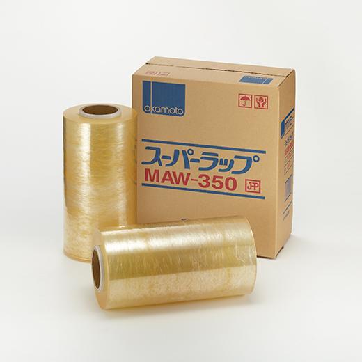 オカモト ポリ塩化ビニル製ラップ(スーパーラップ)ハンド用 H 350mm×500m巻 6本入り 1ケース(HA)