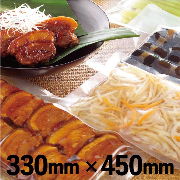 角煮・煮物などの加工食品の冷凍保存に。 明和産商 バリアー性・ボイル用(100℃)・真空包装・三方袋BA-3345H 330mm×450mm 1ケース 600枚入