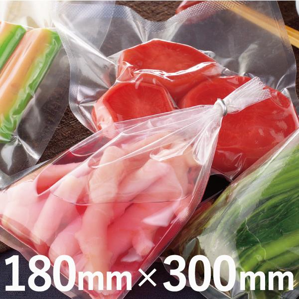 水気のある漬物などの包装に。リング包装に適した5mmシール。 明和産商 ボイル用(85℃) 真空包装三方袋 N5タイプ N5-1830 H 180mm×300mm 1ケース 2,000枚入