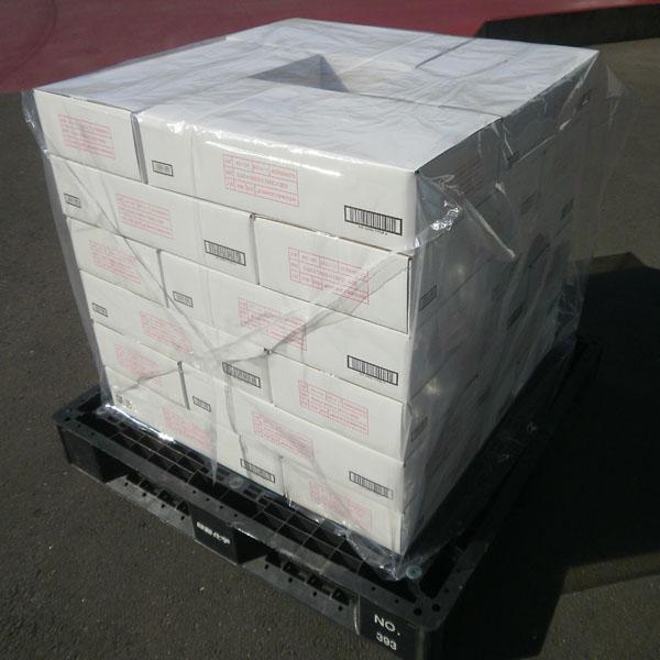《法人様宛限定商品》ポリエチレン製 パレットカバー(透明)0.04mm厚 サイズ選べます(N)