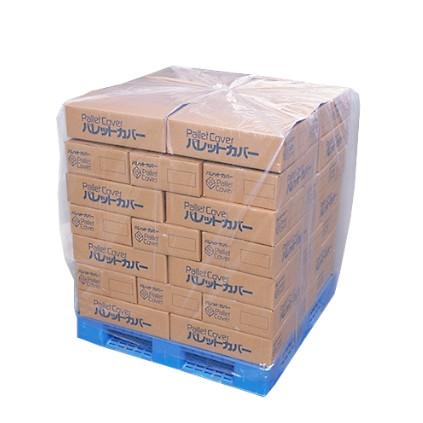 《法人様宛限定》 PE製パレットカバー (PG30-6) 0.03×1350×1350×1450(40枚入)(HS)