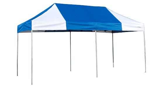《代引不可・法人様宛対象》かんたんテント KA/5W 2.4m×4.8m (スチール&アルミ複合フレーム)