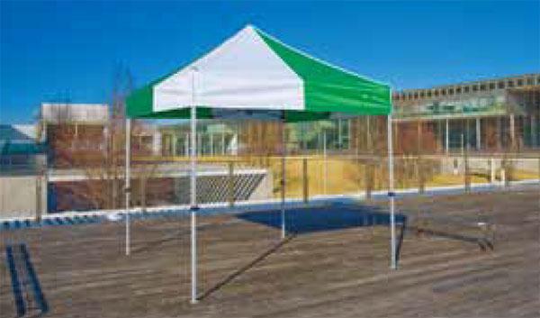 《代引不可・法人様宛対象》かんたんテント KA/3W 2.4m×2.4m (スチール&アルミ複合フレーム)