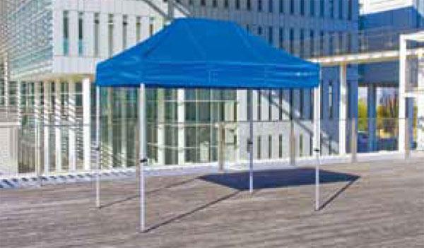 《代引不可・法人様宛対象》かんたんテント KA/1.5WA 1.8m×2.7m (オールアルミフレーム)