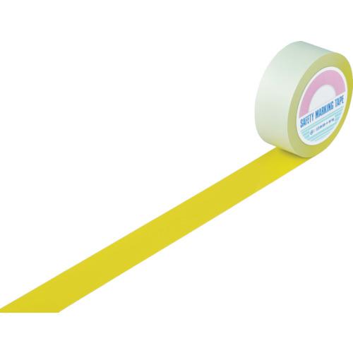 人気ブラドン 緑十字 ラインテープ(ガードテープ) 黄 50mm幅×100m 屋内用 《発注単位:1巻》(OB):資材屋さん 店-DIY・工具