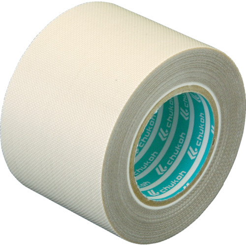 【即出荷】 チューコーフロー 性能向上ふっ素樹脂粘着テープ ガラスクロス 0.24−50×1 《発注単位:1巻》(OB):資材屋さん 店-DIY・工具