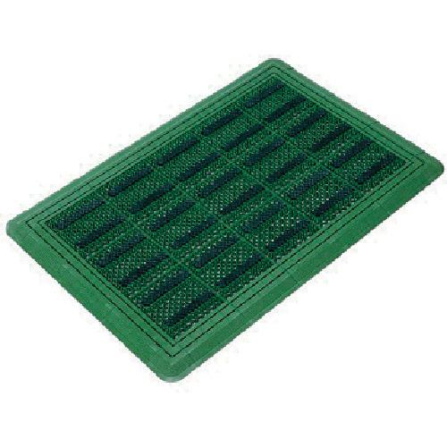 コンドル (屋外用マット)エバックブラシハードマットYL #6 緑 《発注単位:1枚》(OB)