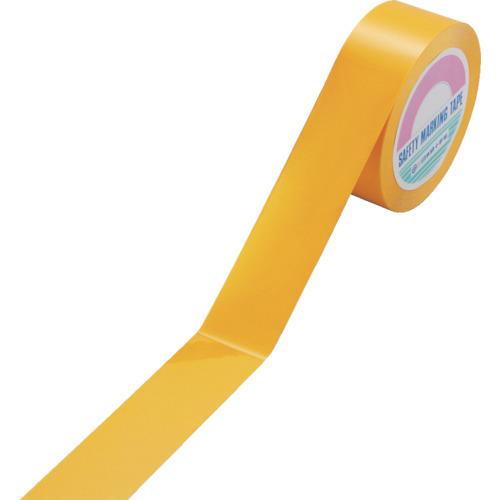 緑十字 ガードテープ(ラインテープ) 黄 50mm幅×100m 再剥離タイプ 《発注単位:1巻》(OB)