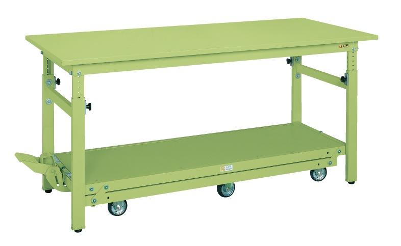 ペダル昇降移動式作業台・軽量TKKタイプ TKK-187Q6SPD