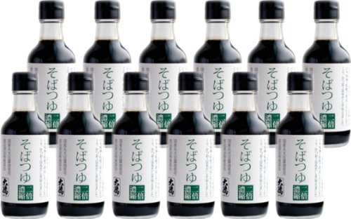 大徳醤油 そばつゆ 200ml×12本