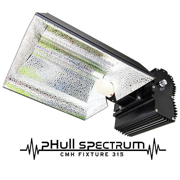 植物育成ライト pHull Spectrum CMH Fixture 315W+4200K+3000K-R+10000K 4段階調光可能な太陽光に近いGrow Light