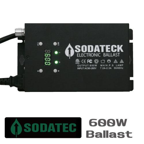 植物育成ライト用 安定器 Sodateck ソダテック バラスト600W 3段階調光可能で24時間タイマー付き Grow Light Ballasts