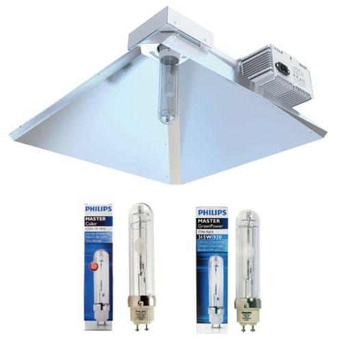 NANOLUX CMH Fixture SET 売却 セール品 315Wは照射ムラが少ない垂直点灯型を採用し植物に最大限光を照射します 315W+Philips4200+Philips3100K
