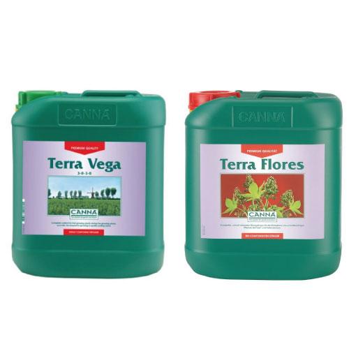 土壌専用の液体肥料 Canna Terra(キャナ・テラ) 5L SET Vega/Floresセット Hydroponic Nutrients
