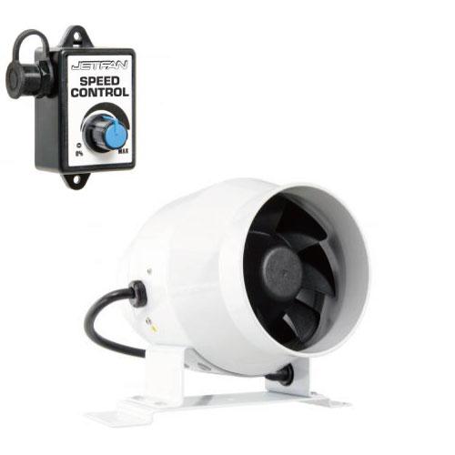 PHAT JETFANは25%の電力で非常に効率が高いパフォーマンスのインラインファン PHAT JETFAN 100mm(ジェットファン)スピードコントローラー付き