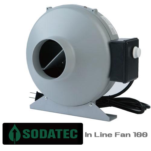 植物育成用 室内栽培 換気ファン SODATECK In Line Fan Φ100mm スピードコントローラー付き!!〔安の心の1年保証〕