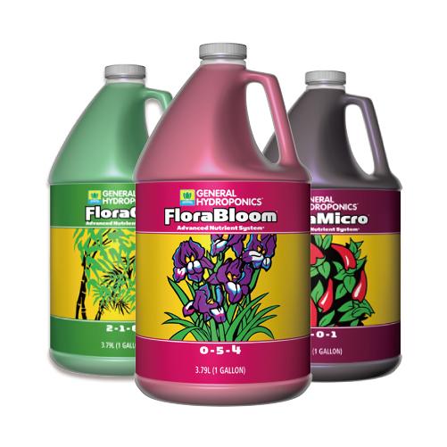 水耕栽培の液体肥料 GH Flora フローラ 3.78L お得な3本セット 室内栽培はもちろん野外、露地栽培でもお使いになれます。 水耕栽培の液体肥料 GH Flora フローラ 3.78L お得な3本セット Hydroponic Nutrients