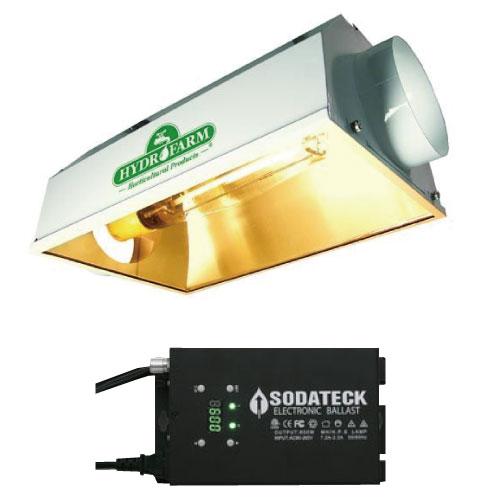 植物育成ライト Sodateck タイマー内蔵 600W + Dayster AC Reflector Φ150mm SET